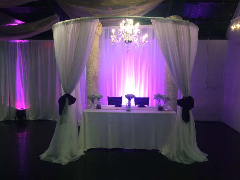 Curved Canopy with Sheer Fabric