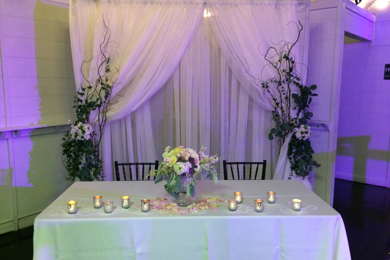 Sweetheart Table Treatments